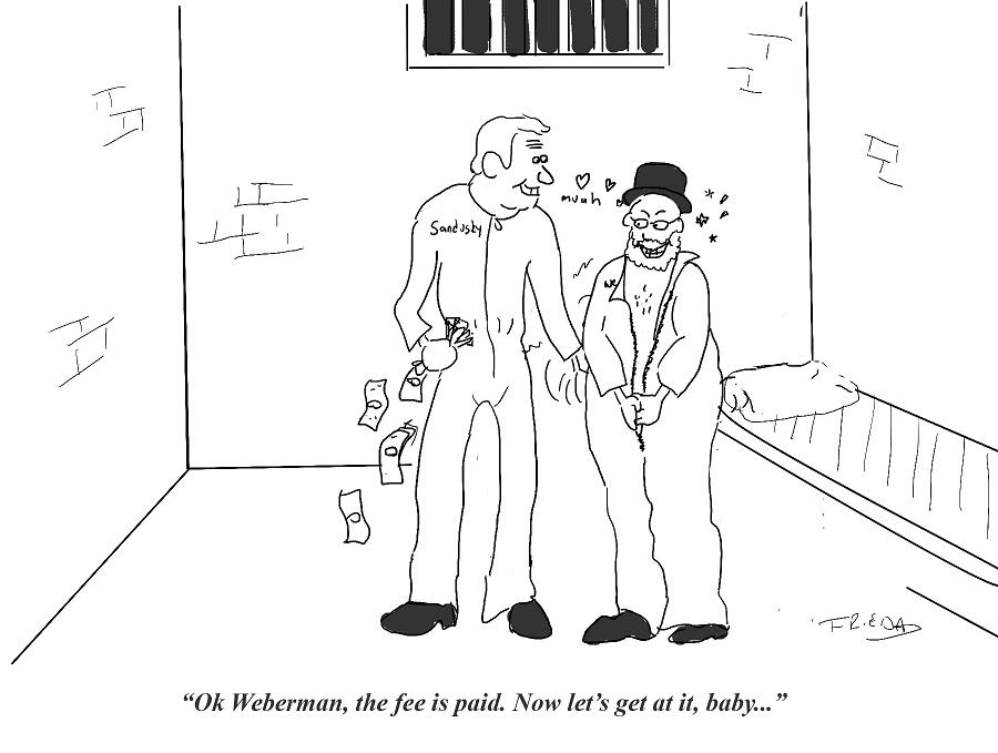 Weberman and Sandusky together in prison